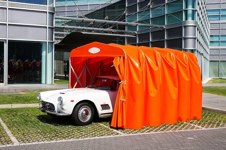 Produzione, vendita ed installazione di box auto in PVC a tunnel e chiocciola singola e doppia. Provincia di Padova e Vicenza. Stameat srl