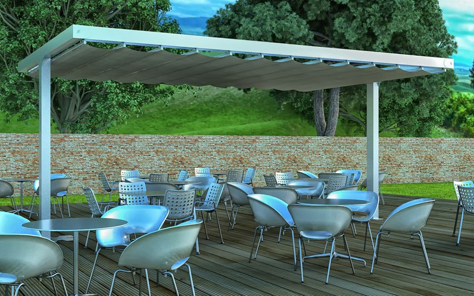 TENDA OMBRELLONE PER GRANDI SUPERFICI PATIO-O-PLUS. STAMEAT SRL