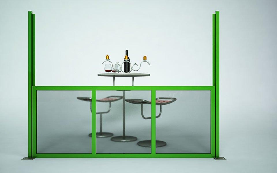 Applicazione particolare Paravento modulare per esterno in alluminio e vetro mod. Quadro Summer- Stameat srl - Produzione ed installazione - Brescia - 3