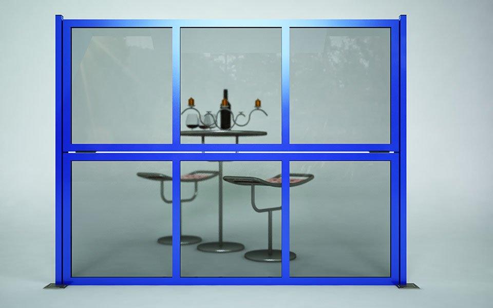 Applicazione particolare Paravento modulare per esterno in alluminio e vetro mod. Quadro Revo- Stameat srl - Produzione ed installazione - Bolzano - 1