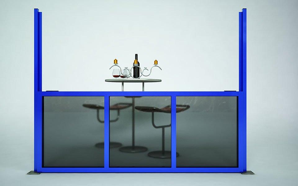 Applicazione particolare Paravento modulare per esterno in alluminio e vetro mod. Quadro Revo- Stameat srl - Produzione ed installazione - Bolzano - 3