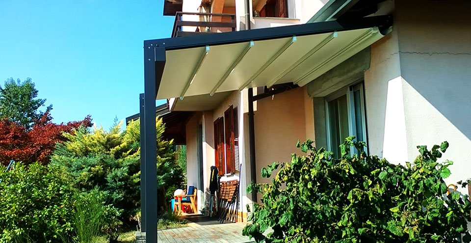 Pergolati Da Giardino In Alluminio : Stameat srl pergole in alluminio da esterno con telo retraibile